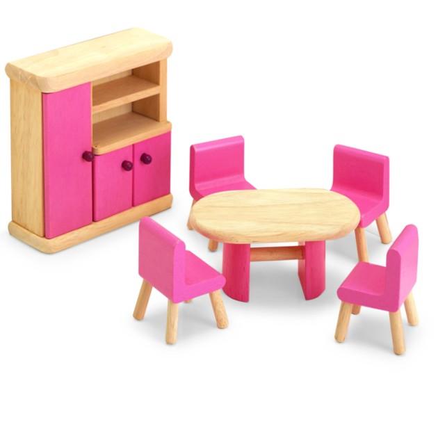Pintoy poppenhuis meubeltjes eetkamer de speelmuis for Meubels poppenhuis